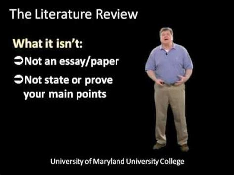 Why we write a literature review